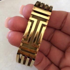 Tory Burch Gold Snap On Fit Bit Bracelet